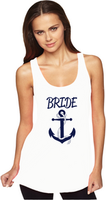 Nautical Themed Anchor Ideal Racerback Tank Top