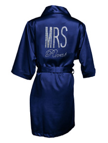 Personalized Rhinestone MRS Robe