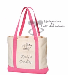 Bling Crown Personalized Rhinestone Tote