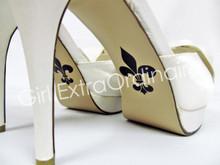 Fleur de Lis Shoe Sticker for Bridal Shoes