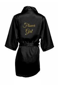 Glitter Print Flower Girl Robe