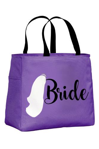 Hyacinth Tote Bag with Black Wording