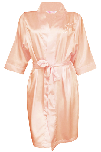Personalized Rhinestone Robes in Luxurious Silky Satin