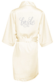 Crystal Embellished Bridal Party Robe in a Pretty Script Font