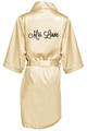 Custom Embroidered Satin Robes