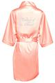 Rhinestone Bridal Party Satin Robes with Edwardian Font