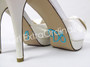 I Do Bridal Shoe Stickers - Aqua and Clear Ring