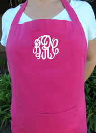 Monogrammed Apron in Choice of Embroidery Styles