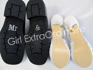 Mr. and Mrs. Shoe Sticker Set for Wedding Shoes