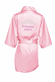 Personalized Rhinestone Princess Robe for Girls