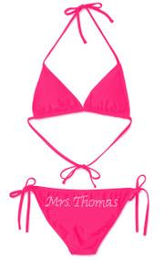 Personalized Rhinestone Mrs. ____ Bikini