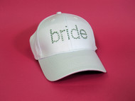Rhinestone Bride Cap in Rhinestone Lettering