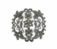 Vintage Inspired Bridal Brooch with Rhinestones