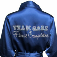 Personalized Competitor Robe - Rhinestone Satin Robe