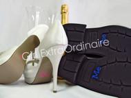 Bride and Groom Shoe Decal Set  - I Do and Me Too