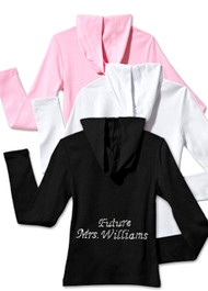 Personalized Rhinestone Future Mrs. Hoodie