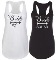 Tribal Bride and Bride Squad Racerback Tank Top