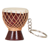 Djembe Keychain, Brown
