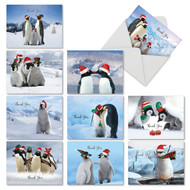 PENGUINS AND GREETINGS - THANK YOU