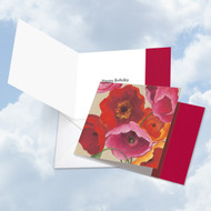 SQUARE PAINTED POPPIES - BIRTHDAY - A