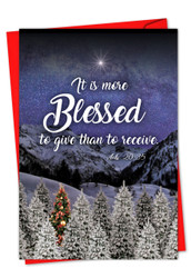 CHRISTMAS QUOTES ACTS 20:35 - H