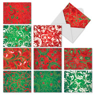 Fleurs de Noel Blank or Season's Greetings Cards