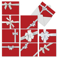 Tie One On Blank or Season's Greetings Holiday Cards