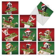 SANTA LOVES YOU THIS MUCH DOG