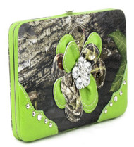 Camouflage Green Flower Wallet