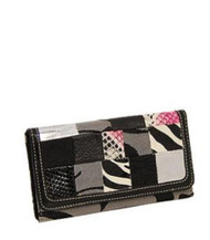 Grey Signature Patch Fashion Wallet