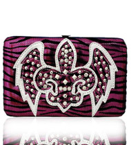 Hot Pink Western Style Fleur de Lis with Wings Wallet