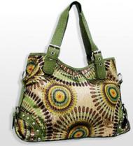 Large Lime Green Crochet Fashion Purse