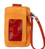 Orange Fashion Wristlet Wallet