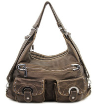 Bronze Soft Stone Washed Tote Purse