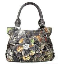 Western Brown Camouflage Flower Rhinestone Fashion Purse