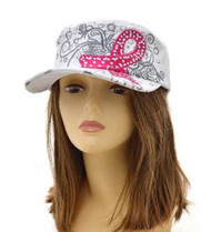 White BREAST CANCER AWARENESS FASHION Vintage Original hat