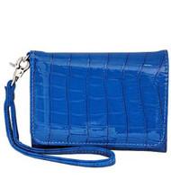 Blue Wristlet Wallet Phone Holder