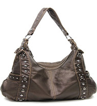 Bronze Designer Inspired Studded Purse