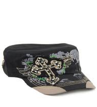 Black Fashion Cross Original Vintage Hat