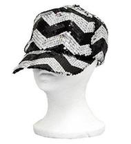 Black Sequins Chevron Baseball Hat