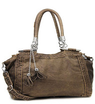 Bronze Retro Designer Inspired Tassle Purse
