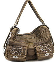 Bronze Stone Washed Handbag