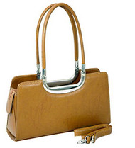 Classic Tan Faux Leather Purse