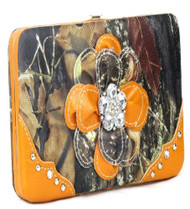 Camouflage Orange Flower Wallet