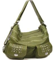Green Stone Washed Handbag