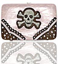 Pink Skull Studded Wallet