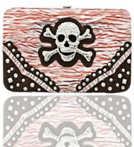 Red Skull Studded Wallet