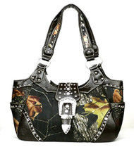 Western Brown Camouflage Buckle Concealed Purse
