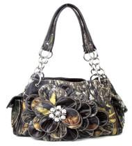 Western Brown Camouflage Flower Rhinestone Handbag