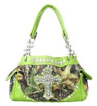 Western Green Camouflage Cross Rhinestone Handbag